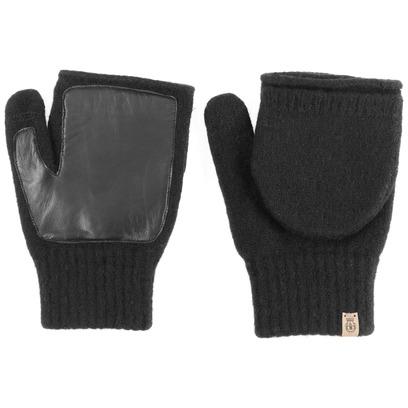 Roeckl Walk Herren Kapuzenhandschuhe Fingerlose Handschuhe Wollhandschuhe mit Leder