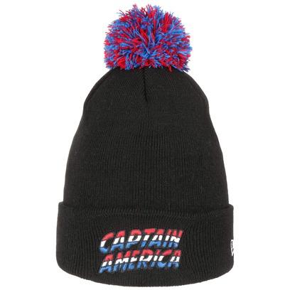 New Era Captain America Bommelmütze Pudelmütze Mütze Wintermütze Strickmütze Beanie