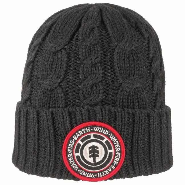 element Basic Cable Knit Beanie Strickmütze Umschlagmütze Mütze Wintermütze Sale Angebote Klein Döbbern