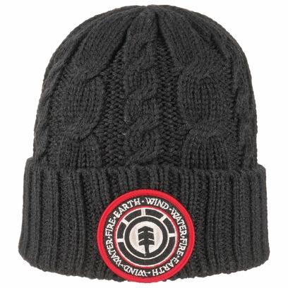 element Basic Cable Knit Beanie Strickmütze Umschlagmütze Mütze Wintermütze
