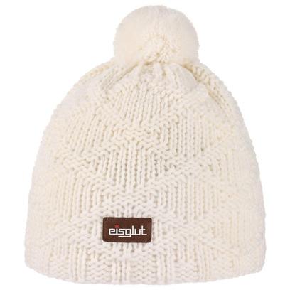 Jojo Uni Bommelmütze Beanie Strickmütze Wintermütze Skimütze mit Fleecefutter Pudelmütze Mütze