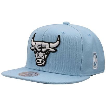 Mitchell & Ness Chicago Bulls Cap Flatbrim Flat Brim Snapback Basecap Baseballcap Kappe