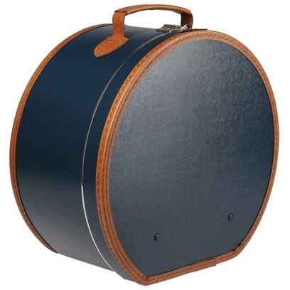 Lierys Hutkoffer Blau Hutschachtel Hutbox Transportbox - Bild 1