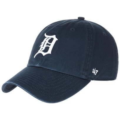 47 Brand Clean Up Detroit Tigers Cap Baseballcap Basecap Curved Brim Kappe Baumwollcap - Bild 1