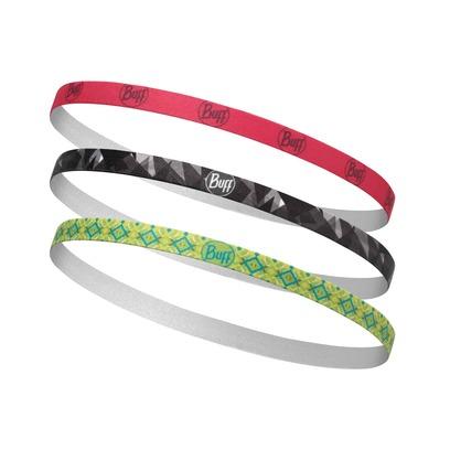 BUFF 3er Pack Sena Multi Hairband Elastisch Dreierpack Set Stirnband Haarband Sportband