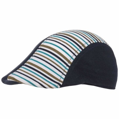 Kinder Streifen Flatcap Schirmmütze Kindercap Kindermütze Baumwollcap Sommercap Kappe - Bild 1