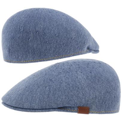 Kangol Indigo 507 Flatcap Schirmmütze Schiebermütze Sommermütze Cap Mütze Sommercap - Bild 1