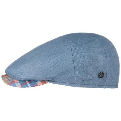 Lierys Capri Bic Cheked Visor Flatcap Schirmmütze Schiebermütze Leinencap mit Karoschirm - Bild 1