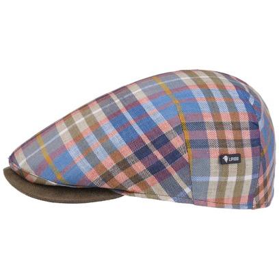 Lipodo Capri Bic Multichecked Flatcap Schirmmütze Schiebermütze Leinencap Sommermütze Cap Mütze - Bild 1