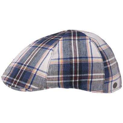 Lierys Spicchi Checks Leinen Flatcap Cap Schirmmütze Leinencap Sommermütze Schiebermütze Gatsbycap - Bild 1