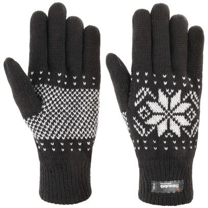 Lipodo Snowflake Thinsulate Handschuhe Fingerhandschuhe Strickhandschuhe mit Fleecefutter - Bild 1