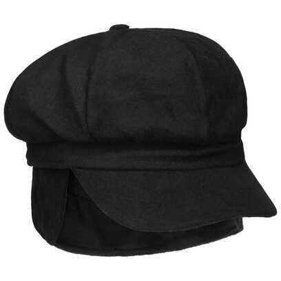 Lipodo Liseta Ballonmütze mit Ohrenklappen Damencap Wintercap Wollcap Schirmmütze Cap Mütze