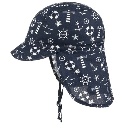 Maximo Sailor Nackenschutz Kindercap Sommermütze Baumwollcap Cap Kappe Mütze Sonnencap - Bild 1