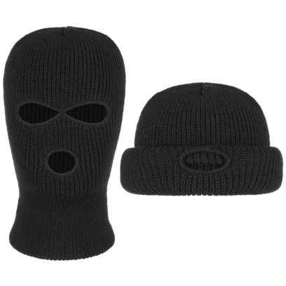 Balaclava Strickmütze Sturmhaube Gesichtsschutz Gesichtsmaske Mütze Umschlagmütze - Bild 1
