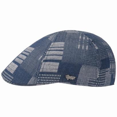 Stetson Texas Denim Patchwork Flatcap Schirmmütze Sommercap Sonnencap Sommermütze Herrencap Cap Kapp - Bild 1