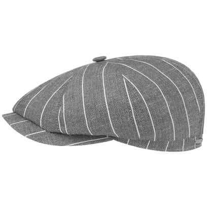 Stetson Hatteras Leinen Stripe Flatcap Schirmmütze Sommercap Sonnencap Sommermütze Herrencap Cap Kap - Bild 1