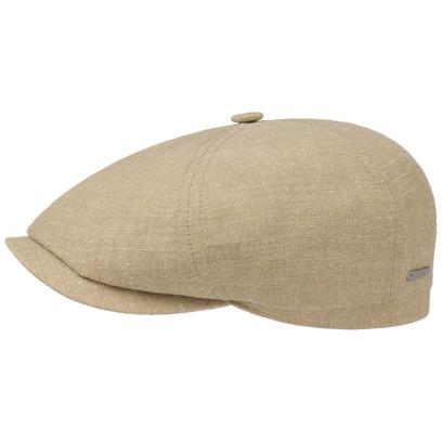 Stetson 6-Panel Leinen-Seide Flatcap Schirmmütze Sommercap Sonnencap Sommermütze Herrencap Cap Kappe - Bild 1