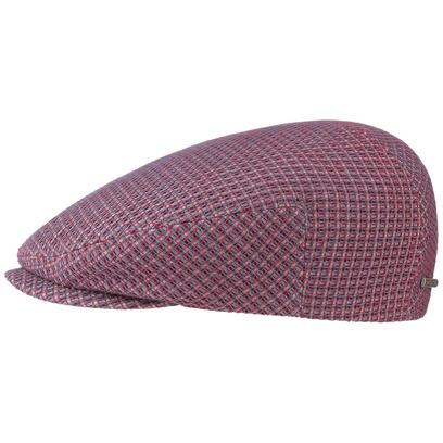 Stetson 3D Effect Cotton Flatcap Schirmmütze Schiebermütze Baumwollcap mit UV-Schutz Cap Mütze