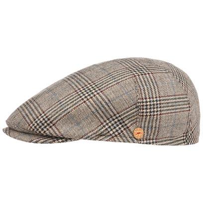 Mayser Premium Glencheck Flatcap Schirmmütze Schiebermütze Cap Mütze Seidencap - Bild 1
