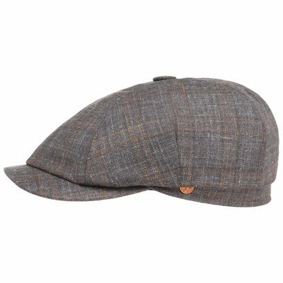 Mayser Seven Classic Melange Flatcap Schirmmütze Leinencap Seidencap Cap Mütze Sommercap - Bild 1