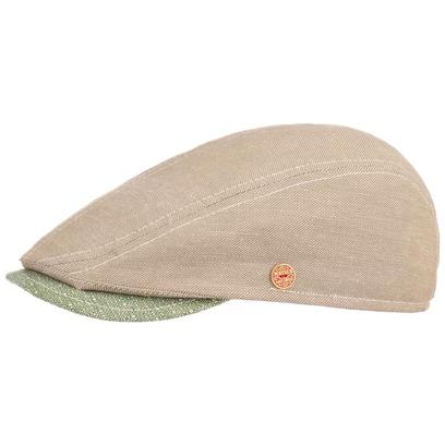 Mayser Skinny Melange Flatcap Schirmmütze Schiebermütze Leinencap Baumwollcap - Bild 1