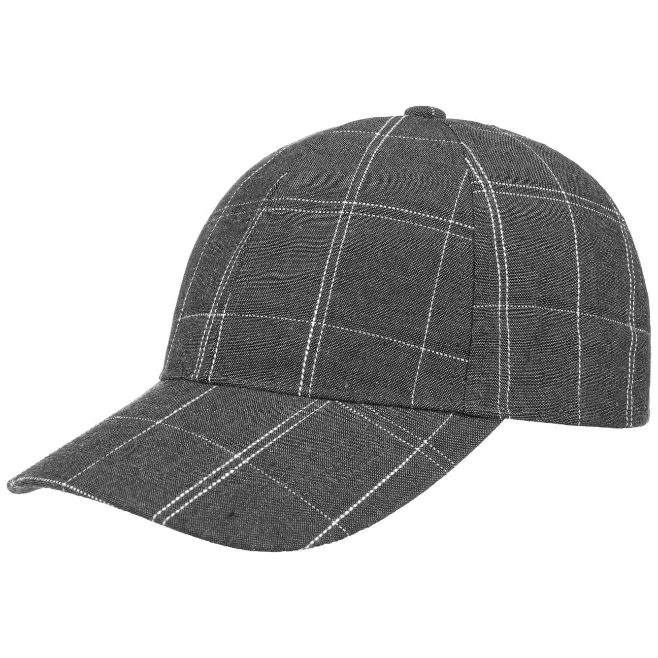 checked-cotton-baseballcap-basecap