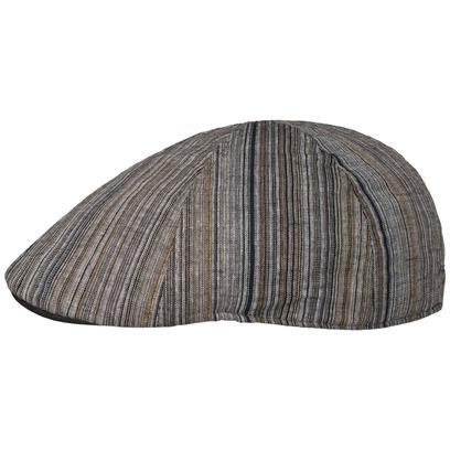 Lipodo Linen Rayon Gatsby Flatcap Schirmmütze Schiebermütze Sommercap Streifenmütze Cap Mütze - Bild 1
