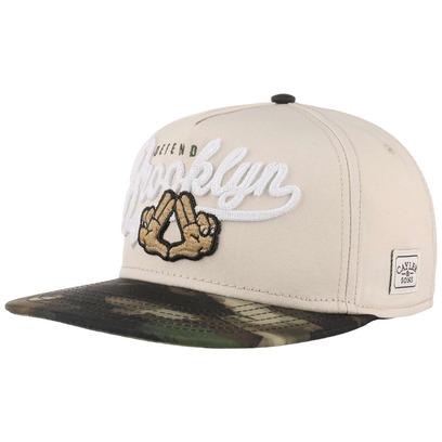 Cayler & Sons Defend BK Snapback Cap Flat Brim Flatbrim Basecap Baseballcap Kappe - Bild 1