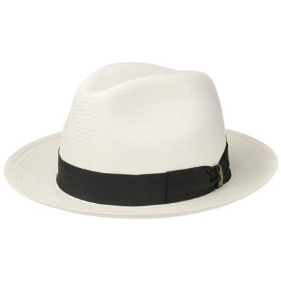 Borsalino Black Trim Small Panamahut Panamastrohhut Hut Strohhut Sonnenhut Sommerhut Fedora - Bild 1