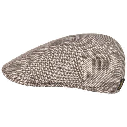 Circles Linen Cotton Flatcap Schirmmütze Leinenmütze Sommermütze Schiebermütze Cap Mütze Borsalino - Bild 1
