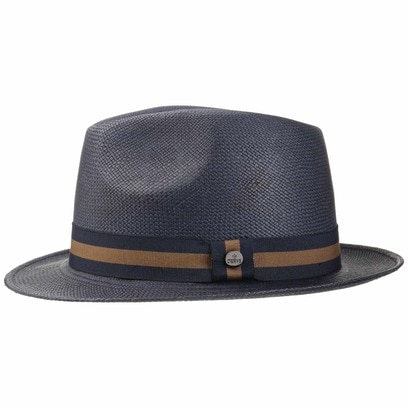 Lierys Blue Sportive Trilby Panamahut Fedora Hut Strohhut Panamastrohhut Fedora-Hut Sommerhut - Bild 1