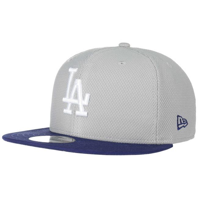 Haasow Angebote New Era 9Fifty LA Dodgers Diamond Cap Snapback Flat Brim Flatbrim MLB Basecap Baseballcap Kappe