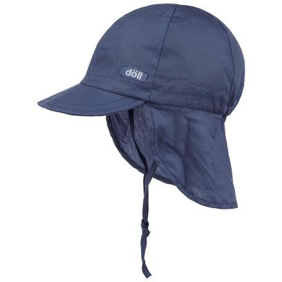 Döll Uni Nackenschutz Cap mit Kinnband Kindermütze Sonnencap Strandmütze Sommercap Kindercap Kappe - Bild 1