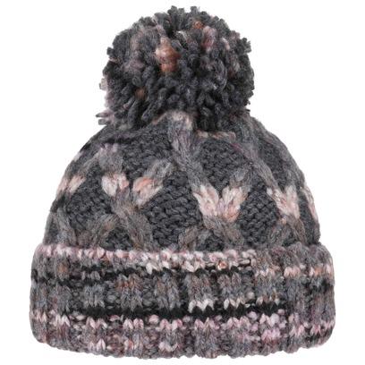 McBURN Rombi Grobstrick Bommelmütze Strickmütze mit Bommel Mütze Damenmütze Wintermütze Pudelmütze - Bild 1
