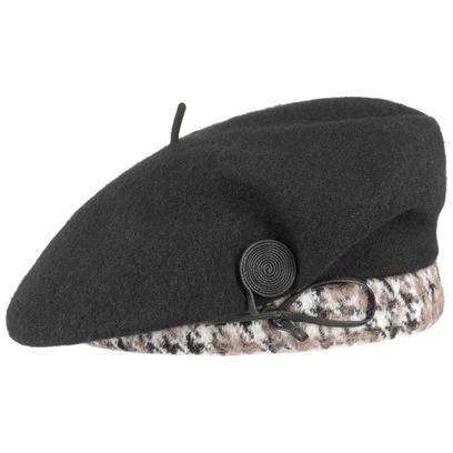 McBURN Jeanette Wollbaske mit Karorand Baskenmütze Damenbaske Damenmütze Wintermütze - Bild 1