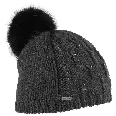 McBURN Glitter Beanie Bommelmütze Mütze Wintermütze Strickmütze Skimütze mit Fleecefutter - Bild 1