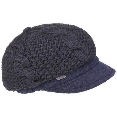 McBURN Wool Baker Boy Ballonmütze Strickcap Wollcap Wintercap Damencap