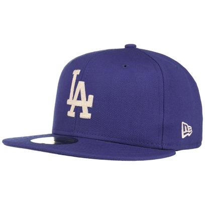 New Era 59Fifty Chain Stitch LA Cap MLB Flat Brim Flatbrim Basecap Baseballcap Fitted Kappe