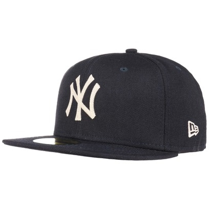 New Era 59Fifty Chain Stitch NY Cap Flat Brim Flatbrim Basecap MLB Baseballcap Fitted Kappe