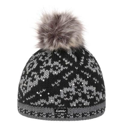 Eisbär Dalia Luxury Bommelmütze Mütze Strickmütze Beanie mit Bommel Pudelmütze Wintermütze Skimütze