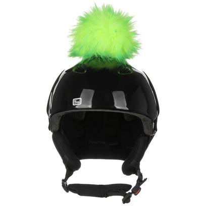 Eisbär Luxury Bommel Helmaufkleber Helmsticker Helmdeko Sticker für Skihelm - Bild 1
