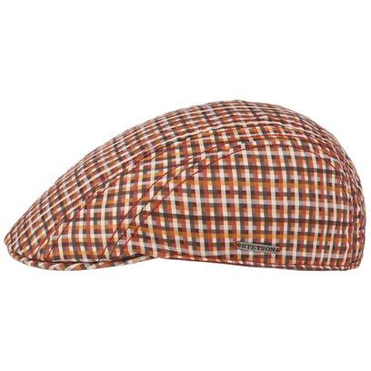Stetson Manatee Cotton Check Flatcap Schirmmütze Schiebermütze Baumwollcap Baumwollmütze Cap Mütze