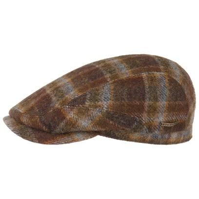 Stetson Belfast Woolrich Plaid Flatcap Schirmmütze Schiebermütze Wollcap Wintercap Mütze Karomuster - Bild 1