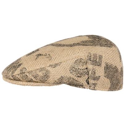 Café Espresso Elephant Flatcap Schirmmütze Jutemütze Nachhaltige Schiebermütze Mütze Cap - Bild 1