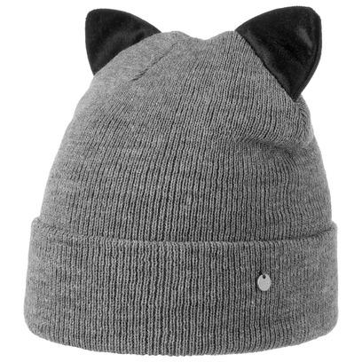 Catty Umschlagmütze mit Ohren Wintermütze Strickmütze Mütze Beanie - Bild 1