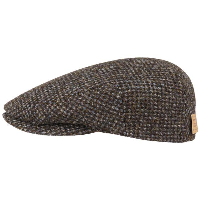 Stetson Kent Harris Tweed Fine Flatcap Schirmmütze Karomuster Karierte Mütze Cap Schiebermütze Sale Angebote Lieskau