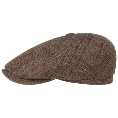 Stetson Brooklin Wool Check Flatcap Schirmmütze Wollcap Mütze Wintercap Schiebermütze - Bild 1