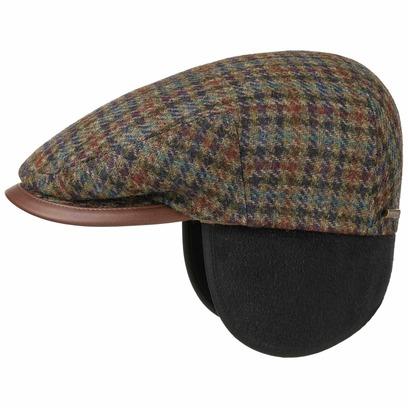 Stetson Kent Virgin Wool Earflaps Cap Schirmmütze Flatcap Mütze mit Ohrenklappen Wintermütze - Bild 1