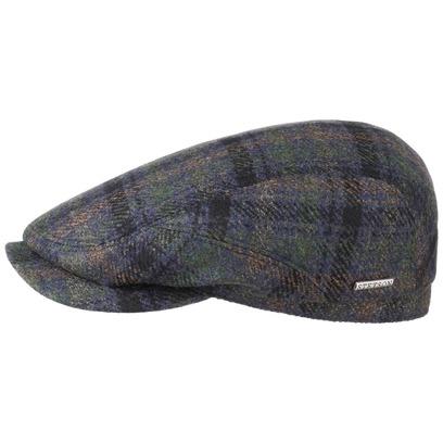 Stetson Checked Flatcap mit Kaschmir Schirmmütze Wollcap Wintercap Wintermütze Kaschmirmütze - Bild 1