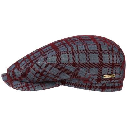 Stetson Flocked Denim Ivy Cap Schirmmütze Flatcap Baumwollcap Karocap Mütze Schiebermütze